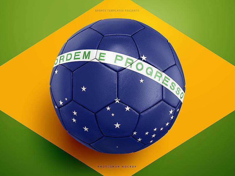 soccer ball football mockup template by ali rahmoun dribbble
