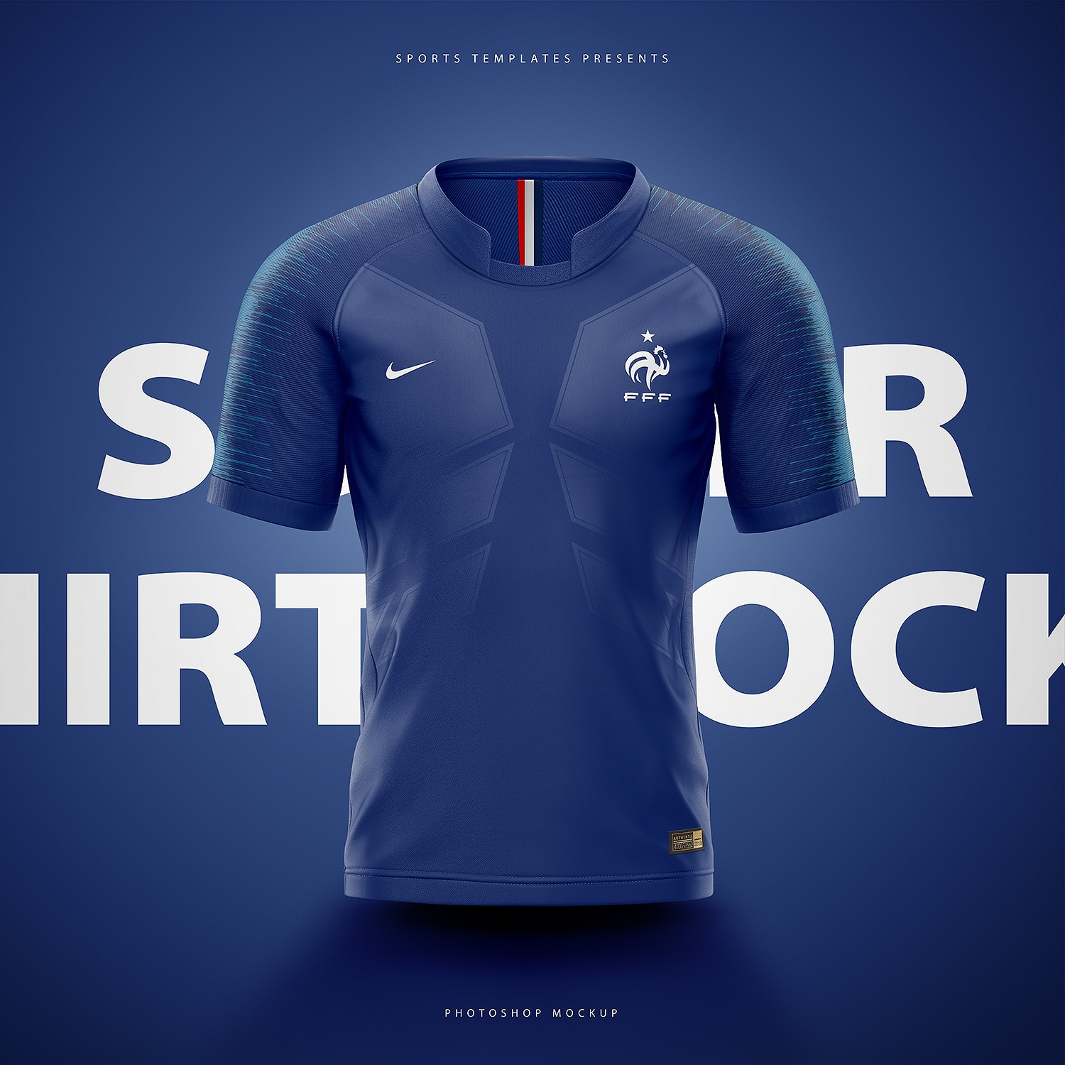 c50a8a02 France soccer football world cup 2018 shirt nike aeroswift photoshop  template.