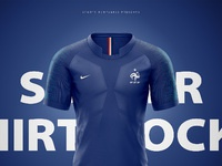 France Soccer Football World Cup 2018 Shirt Nike Aeroswift Photoshop Template