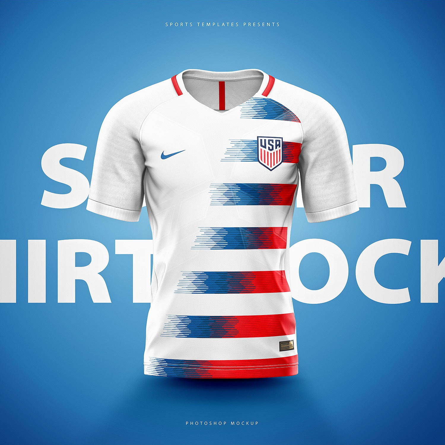 8dfc03c6 United states soccer football world cup 2018 shirt nike aeroswift photoshop  template back.
