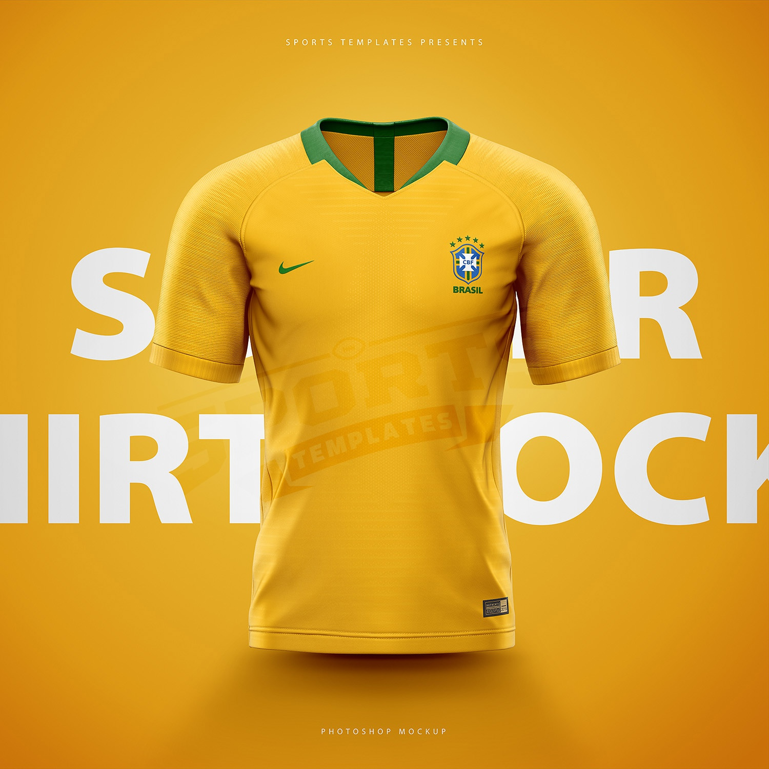 603e7c30 Brasil soccer football world cup 2018 shirt nike aeroswift photoshop  template.