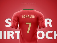 a2a1dabf ... Portugal soccer football world cup 2018 shirt nike aeroswift photoshop  template back