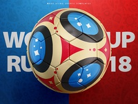 Russia world cup 2018 football concept template