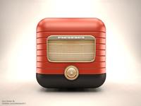 3D Retro Radio IOS Icon