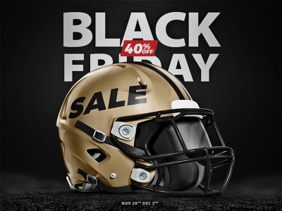 Our Black Friday sale is now live helmet design discount promo black friday 3d nfl design sports free psd template concept helmet