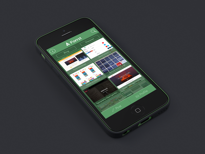 Forrst App Interface Design