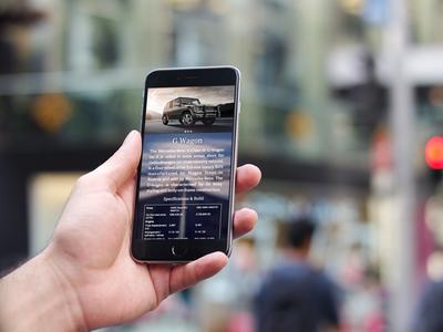 Mercedes-Benz Information App Interface