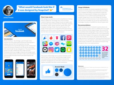 Facebook App Redesign Poster