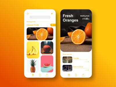 Fruit App UI app user experience user interface ui design illustration creative ux ui graphics design design