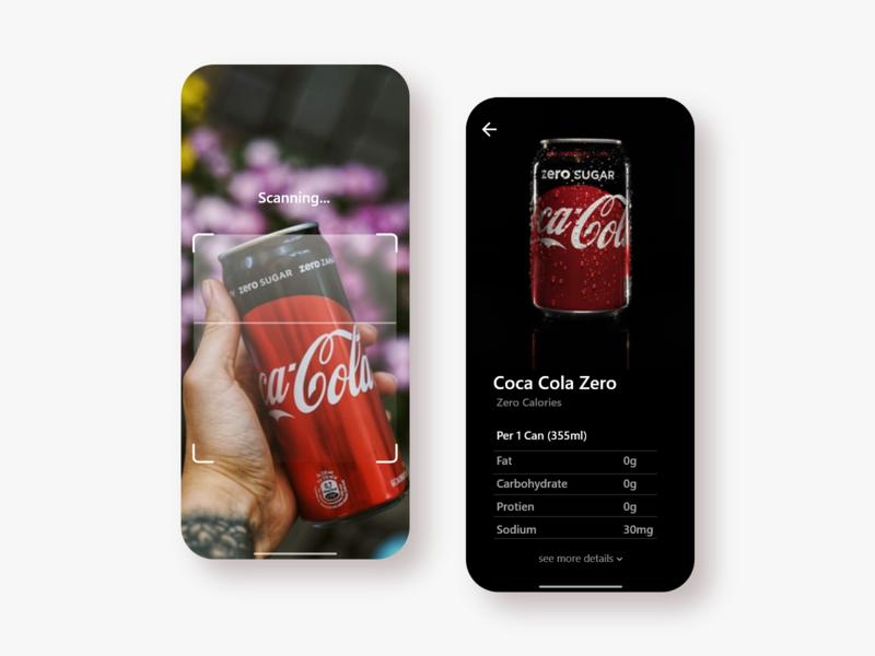 Product Scanning App UI scanning app user experience user interface ui design creative ui ux graphics design design