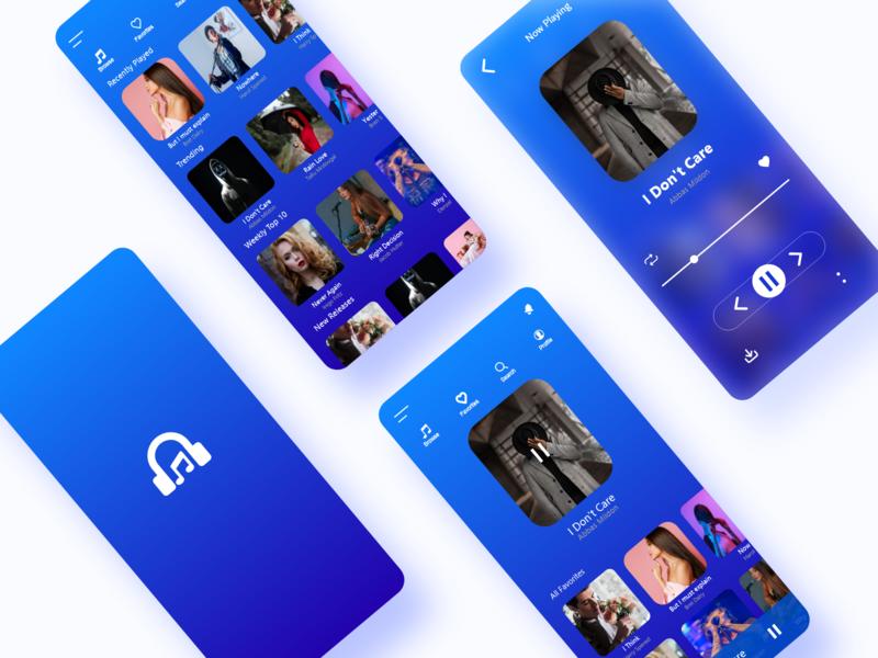 Music Player App UI user interface user experience ui design ux ui design creative
