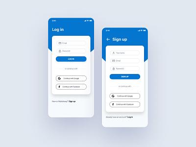 Login - Sign up mobile app design login design login screen login mobile