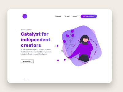 Twinlight project showcase branding ui design webdesign landingpage web design landing page