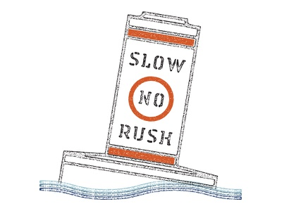 Slow No Rush slow bouy sea ocean bobbing illustration apparel