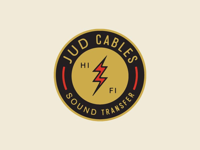 Jud Cables branding illustration lightning bolt bolt lightning cables hifi sound logo