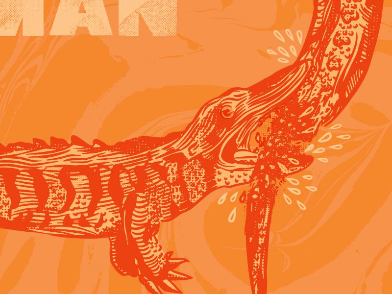 Florida Man ouroboros diy punk music illustration artwork album