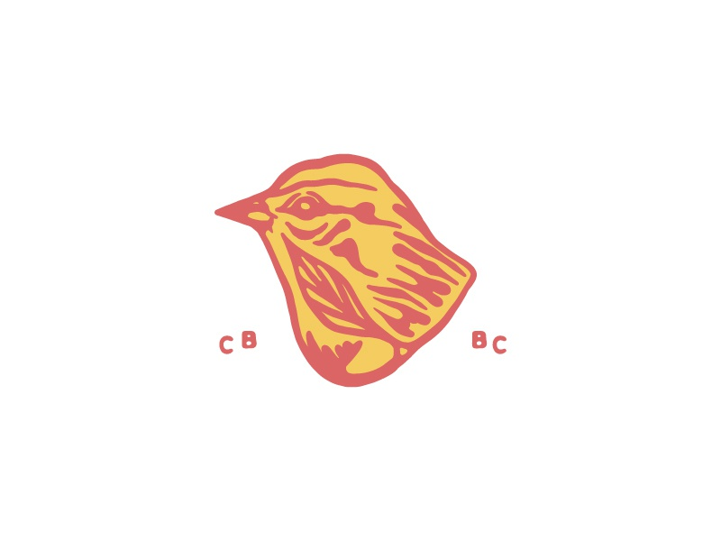 CB BC beer craft beer brewing natural leaf bird type coalesce typography logo