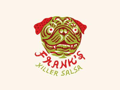 Frank packaging food logo illustration dog pug