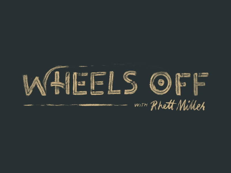Wheel's Off logo design illustration procreate hand lettering podcast logo lettering