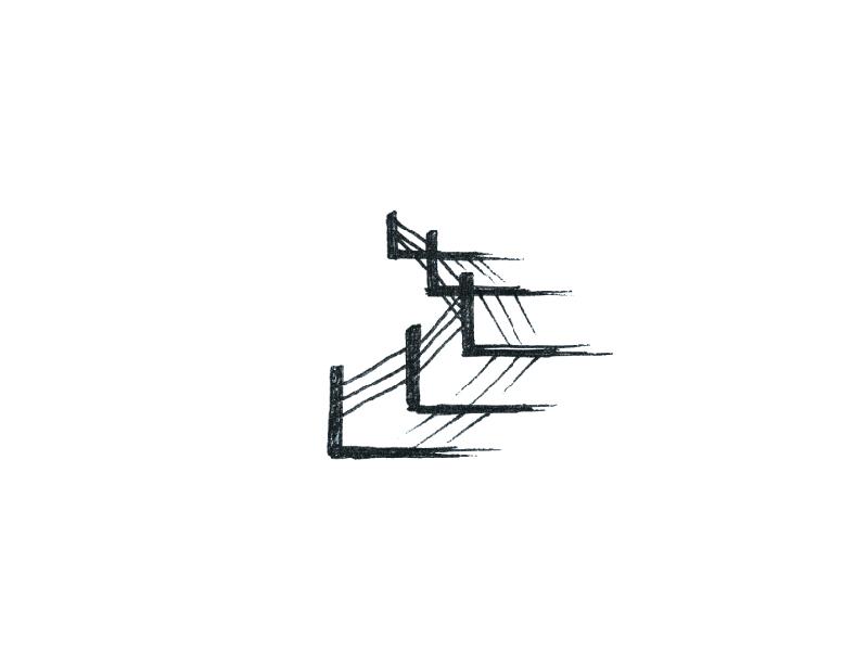 Dwell logo minimal label craft beer beer fence illustration