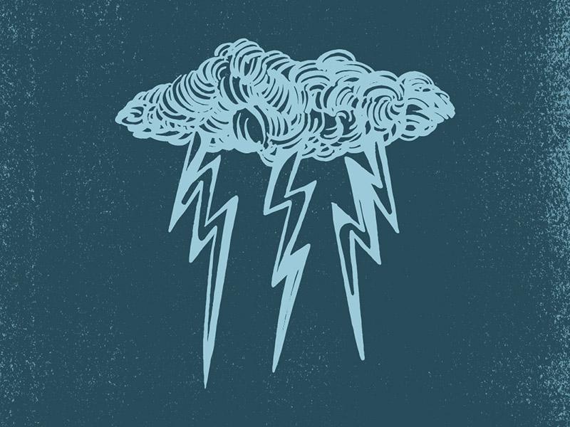 Third illustration art director design beer brewery virginia illustration art logo lightning cloud illustration