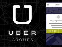 Uber Groups (Wireframe Concepts)