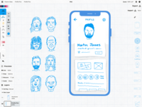 Profile avatars for wireframing