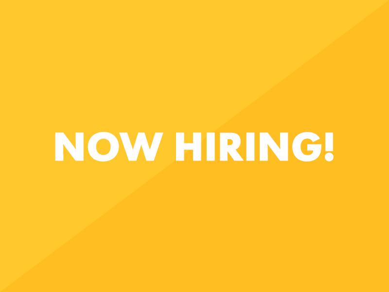 We're Hiring!  now hiring designer web designer hiring job position designscout chicago ui talent team open