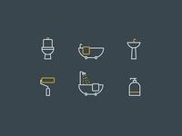 Bathroom Decor Icons