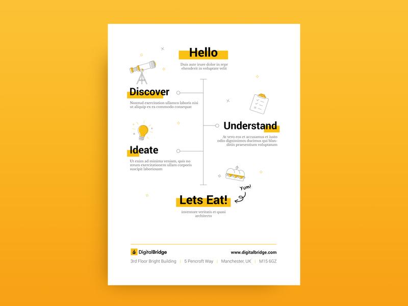 Morning Workshop Agenda lunch timeline marketing typography layout designs sprint designer workshops illustration page a4 letter mockup design agenda workshop