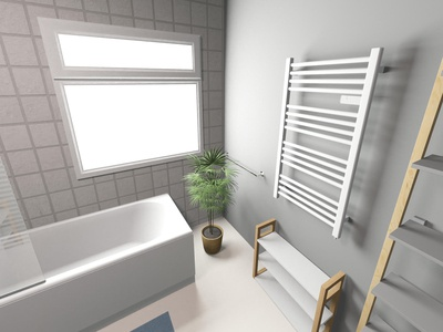 3D Bathroom Render