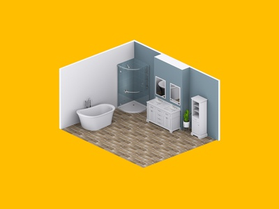 3D Bathroom Render