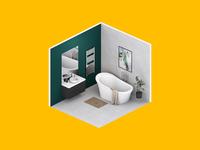 3D Render 3d render 3d rendering clean render isometric design isometric art isometric bathroom interior design interior 3d artist 3dsmax 3d art 3d