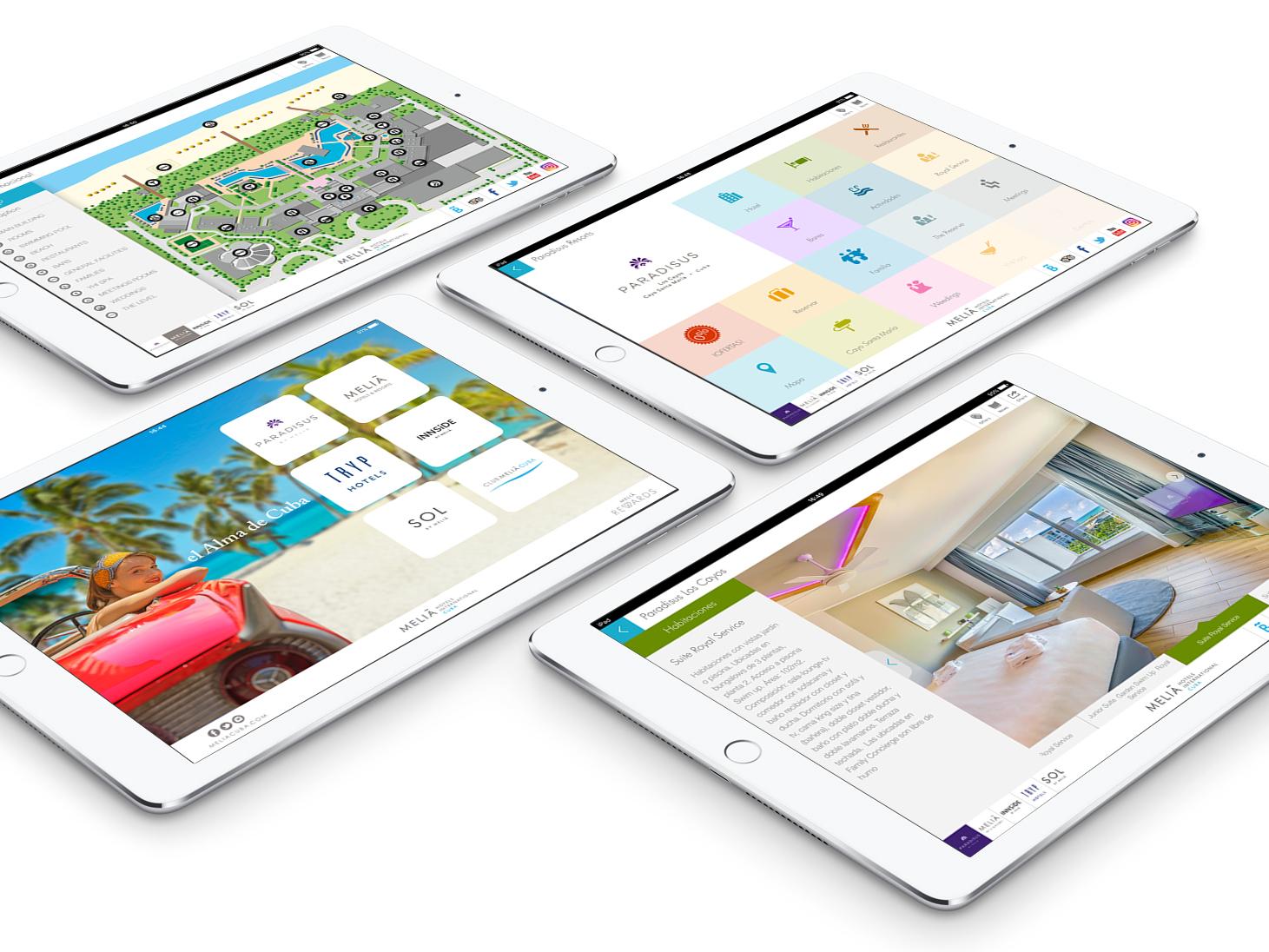 App Melia Cuba Corp. ui ios hotel booking design vacations hotels beach adobe illustrator adobe xd cuba ipad apple app