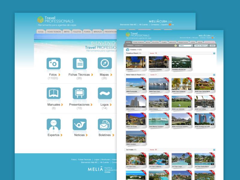 Web Travel Professionals Melia Cuba web design website web beach cuba design