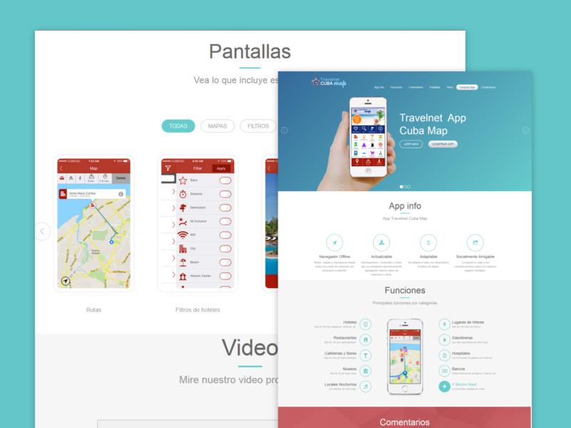 Web App Cubapp travel hotels website ios app design