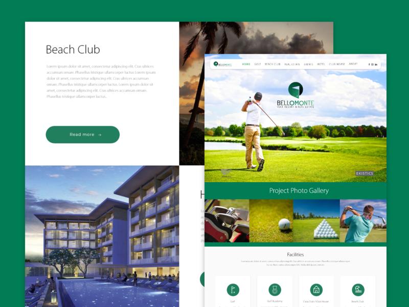 Web Bellomonte beach club realestate golf golf club ui travel agency adobe xd travel vacations website hotels cuba design