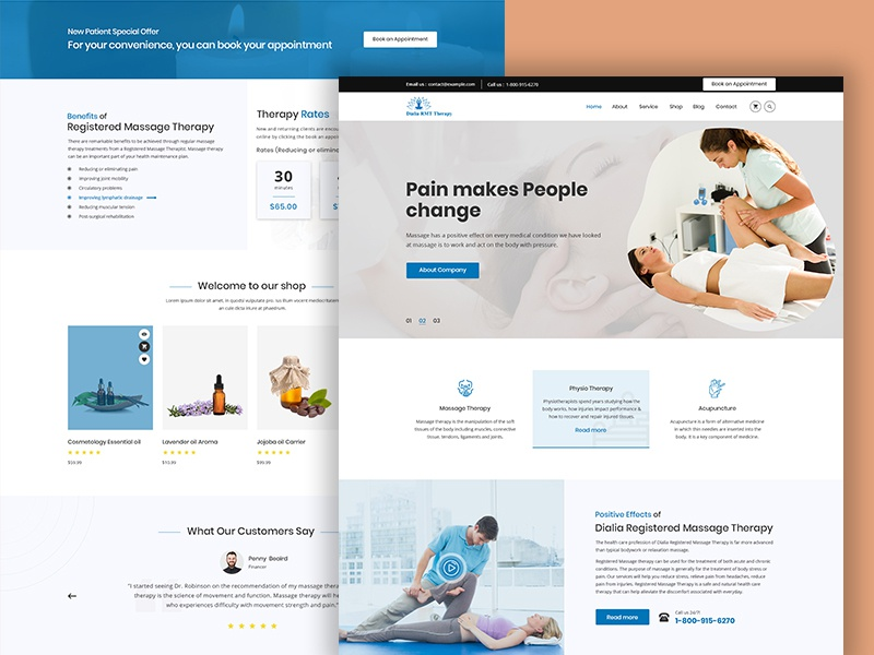 Registered Massage Therapy Template therapy center therapy shop physiotherapy medicalmassage massagetherapy massagecenter massage aromatherapy