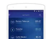 Wallet activity nexus5