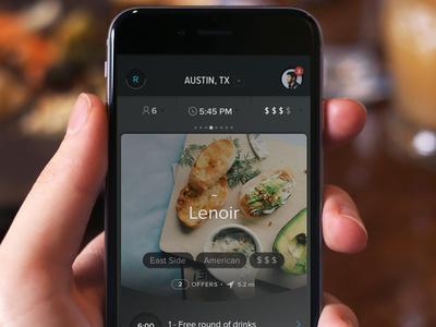 Restaurant App 2 dark hi-contrast restaurant gradient minimal iphone6 iphone ios ui