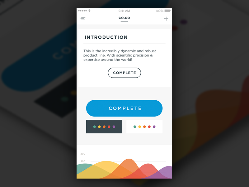 Color UI Exploration chart button graph gradient iphone ios ui
