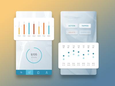 Health App Aesthetic Concept bars chart healthkit blue graph sleep health clean ios