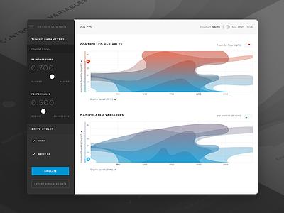 Engine Tuning iPad App design language clean ios ipad auto dashboard design ui