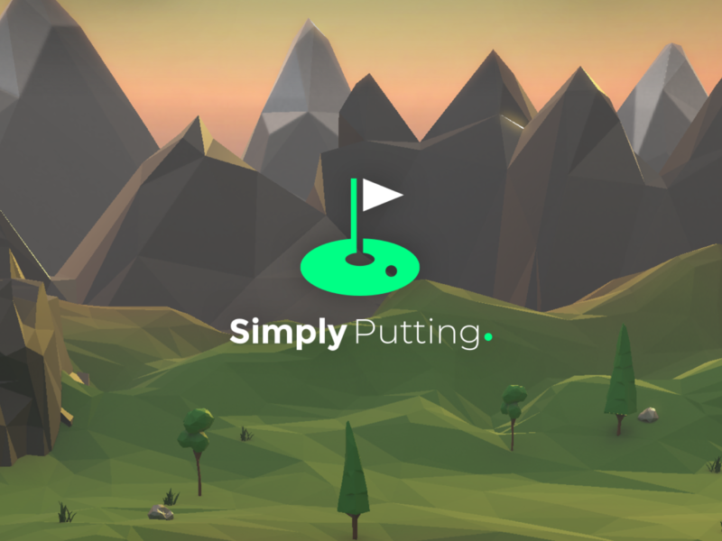 Simply Putting - A New iOS Game low poly art lowpoly 3d art 3d logo design ios ui