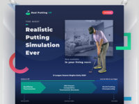 Real Putting VR Website webdesign website concept website quest oculus vr clean gradient ui