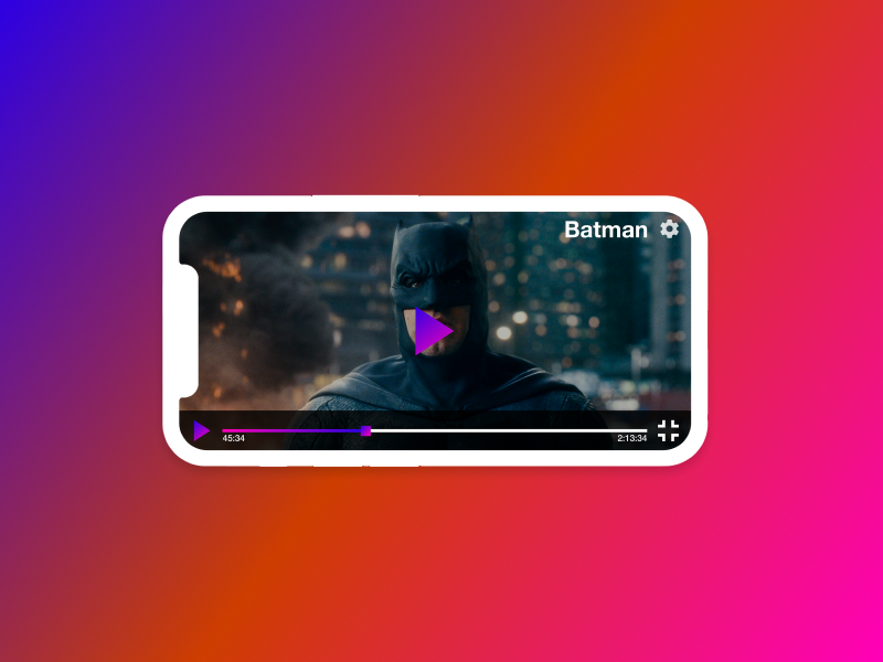 Daily UI #057 #dailyui - Video Player by Vlad on Dribbble