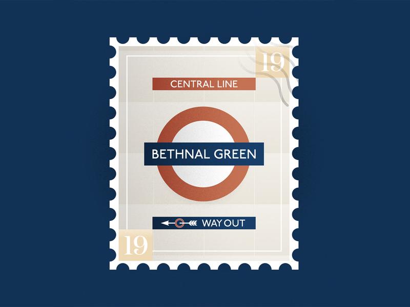 Bethnal Green Stamp minimal illustration vector flat design stamp london bethnal green