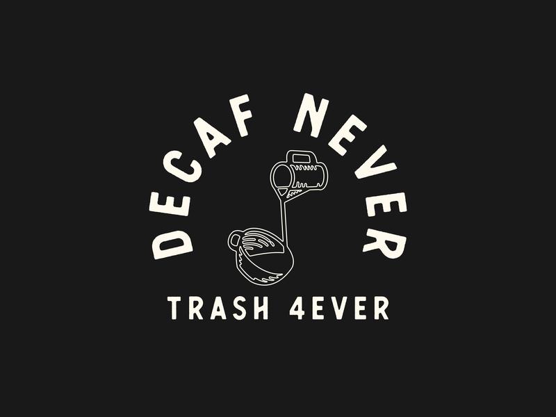 Something a Bit Silly decaf coffee minimal logo vector illustration flat design branding