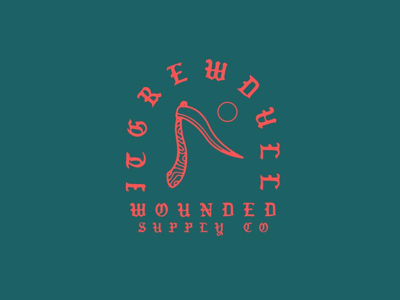 Scythe/Wounded gothic scythe minimal logo vector illustration flat design branding