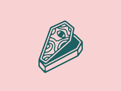 Coffin coffin minimal logo vector flat illustration design branding